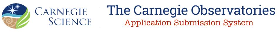 Carnegie Observatories Job Applications